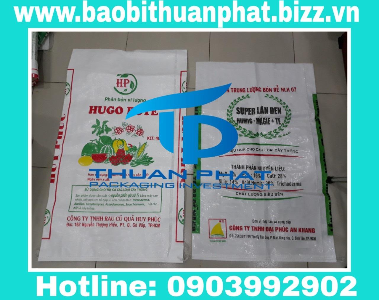 Bao phân bón in flexo 25kg, 40kg,50kg